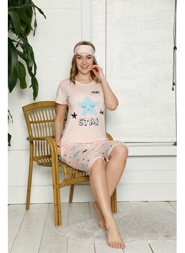Akbeniz Pijama Takım Somon